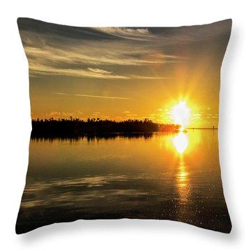 Throw Pillow featuring the photograph First Key West Sunrise 2018 E by Bob Slitzan