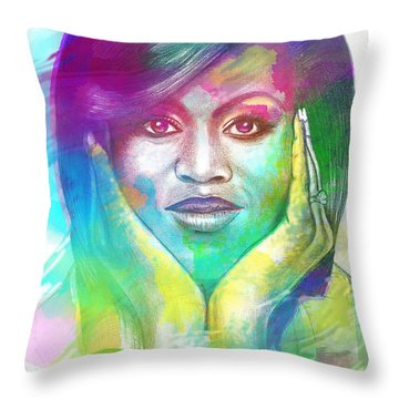 First Lady Obama Throw Pillow by AC Williams
