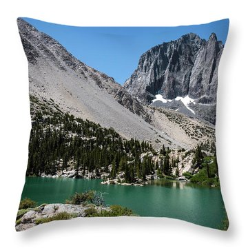 First Lake Afternoon Throw Pillow by Scott Cunningham