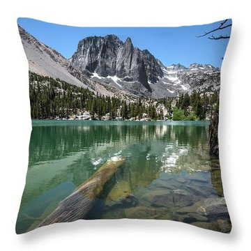 First Lake Reflection Throw Pillow by Scott Cunningham