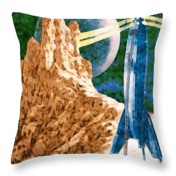 First Landing On Triton Throw Pillow