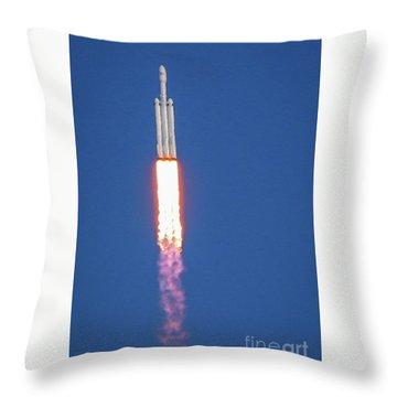 First Launch Throw Pillow