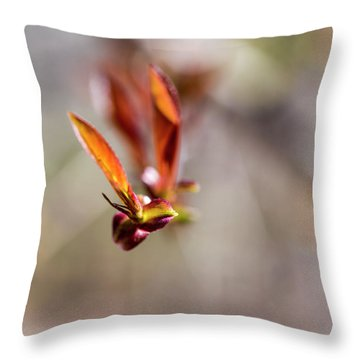First Leaves Throw Pillow