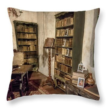 First Library Throw Pillow