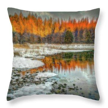 First Light At 3 Springs Throw Pillow