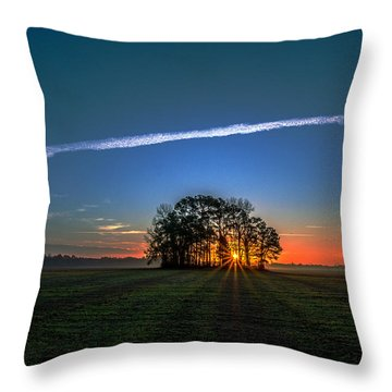 First Light At Center Grove Throw Pillow