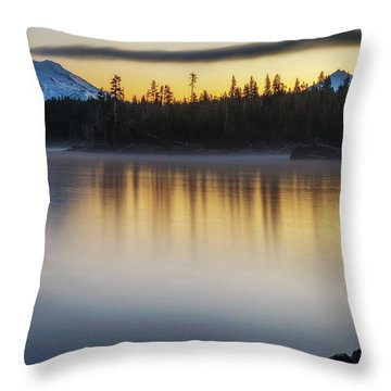 Throw Pillow featuring the photograph First Light At Lava Lake by Cat Connor