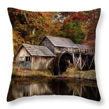 First Light At Mabry Mill Throw Pillow