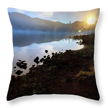 Throw Pillow featuring the photograph Daybreak by Cat Connor