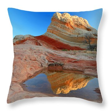 First Light At White Pocket. Throw Pillow by Johnny Adolphson