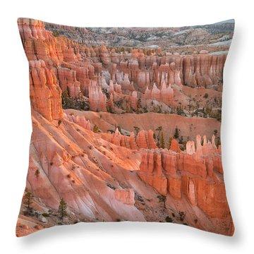 First Light, Bryce Canyon National Park Throw Pillow