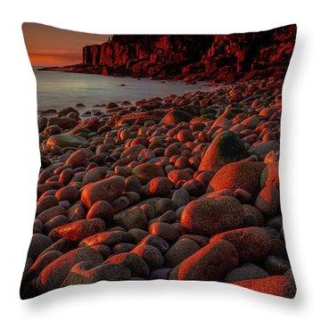 First Light On A Maine Coast Throw Pillow