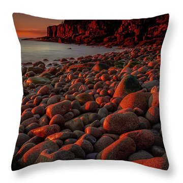 First Light On A Maine Coast Throw Pillow