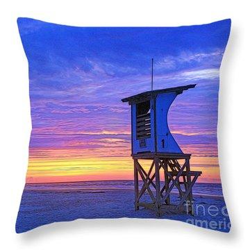 First Light On The Beach Throw Pillow