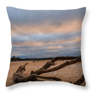 First Light On The Kaw Throw Pillow