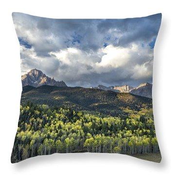 First Light On The Sneffels Range Throw Pillow