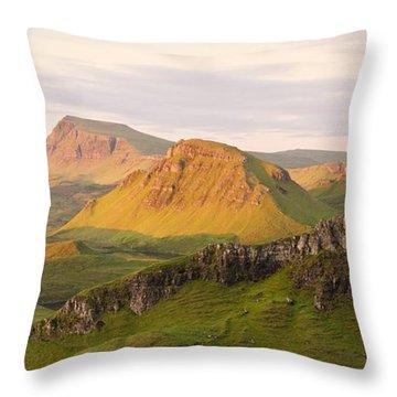 First Light Trotternish Panorama Throw Pillow