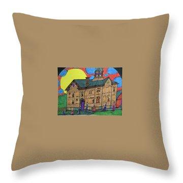 First Menominee High School. Throw Pillow by Jonathon Hansen