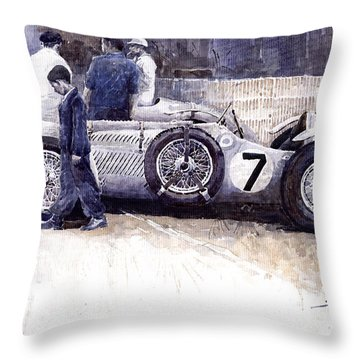 1950 First Met Up Talbot Lago Le Mans 24 Throw Pillow