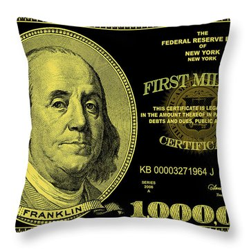 First Million Certificate Throw Pillow