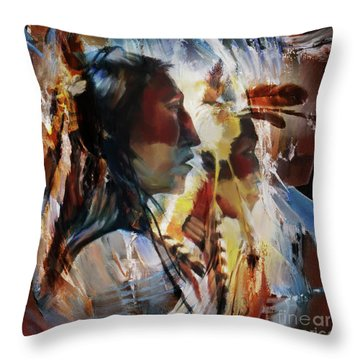 First Nation 67yu Throw Pillow by Gull G