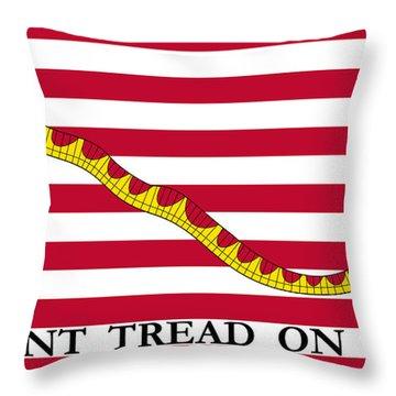 First Navy Jack Throw Pillow