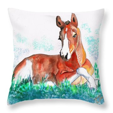 First Of May Throw Pillow