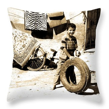 Throw Pillow featuring the photograph First Of My Tyre Empire by Jez C Self