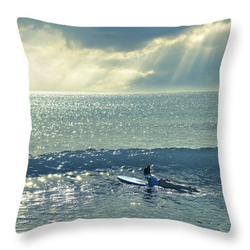 First Of The Day Throw Pillow