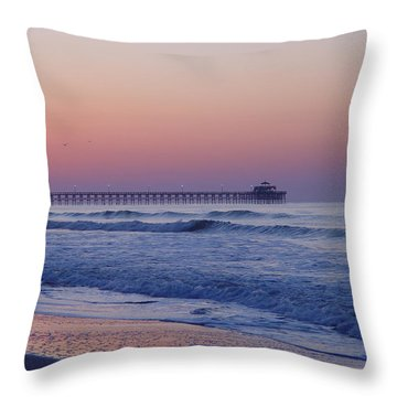 First Pier Throw Pillow