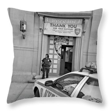 First Precinct Nyc Throw Pillow by Robert Lacy