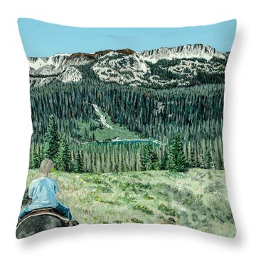 Throw Pillow featuring the painting First Ride by Kevin Daly