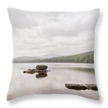 First Roach Pond Throw Pillow
