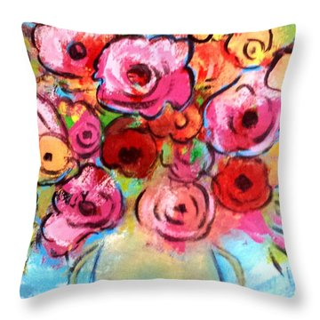 First Roses Of Summer Throw Pillow