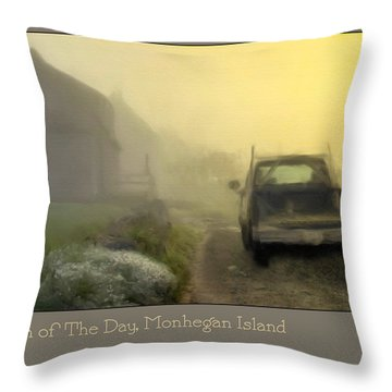 First Run Of The Day, Monhegan Island  Throw Pillow by Dave Higgins