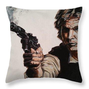 First Shot - Han Solo Throw Pillow