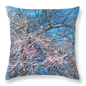 First Snow At Dawn Throw Pillow