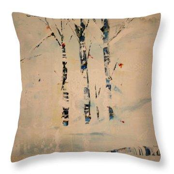 First Snow Central Park Throw Pillow
