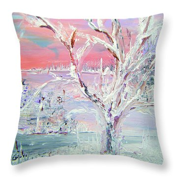First Snow Throw Pillow