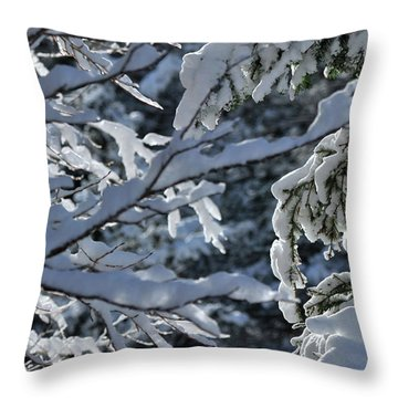 First Snow II Throw Pillow