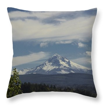 First Snow Signed Throw Pillow