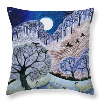 First Snow Surrey Hills Throw Pillow