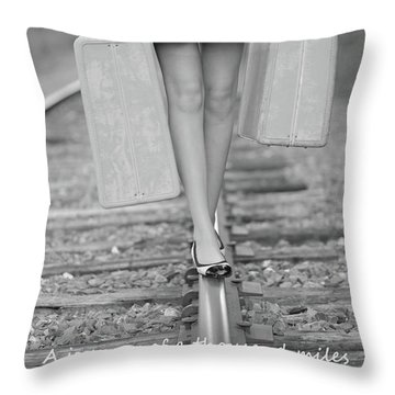First Step Throw Pillow