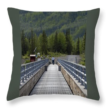 First Steps Down New Roads Throw Pillow by Denise McAllister