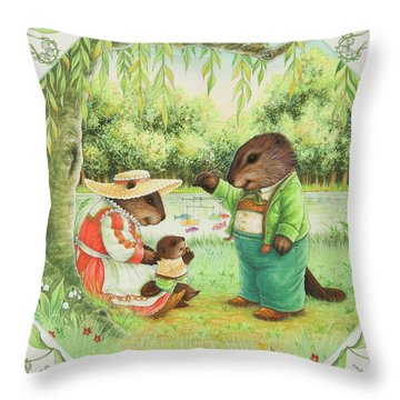First Steps Throw Pillow by Lynn Bywaters
