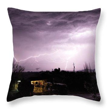 First Summer Storm Throw Pillow by Charles Ables