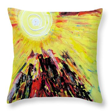 First Sun Throw Pillow