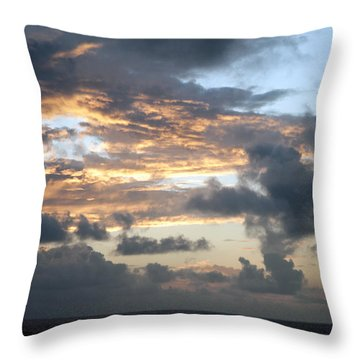 First Sunrise  Throw Pillow by Allen Carroll
