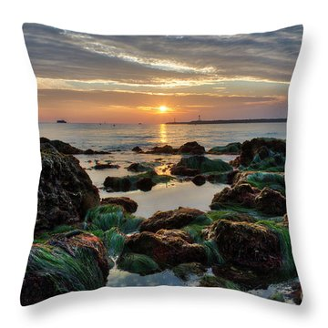 First Sunset Of 2018 Throw Pillow