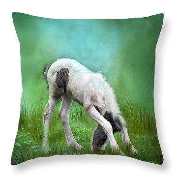 First Taste Throw Pillow